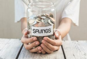 Saving for a rainy day.